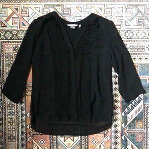 H&M 3/4 Sleeve Pleated Blouse